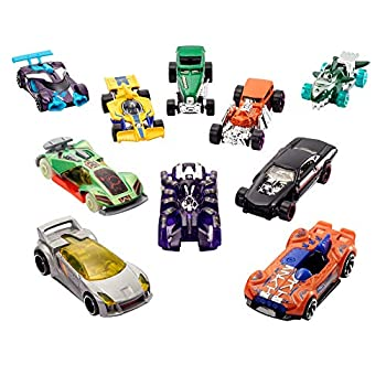 Hot Wheels Rewards Car Pack of 10 Individually Wrapped 1 64 Scale Die-Cast Vehicles in Opaque Bags with Gold Stickers Rewards or Prizes for Kids 3 Years Old & Up