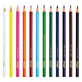 Prang Thick Core Colored Pencils, 3.3 Millimeter Cores, 7 Inch Length, Assorted Colors, 12 Count (22120)