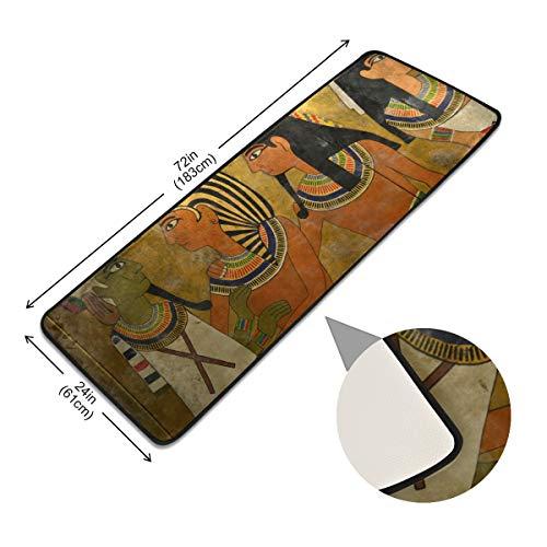 XiangHeFu Pads Vloerbedekking, antislip, vintage antiek Egyptian