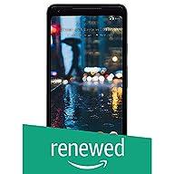 Google Pixel 2 XL Unlocked GSM/CDMA - US warranty (Just Black, 128GB) (Renewed)