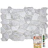 Novecrafto Paneles de pared decorativos de color gris premium, diseño 3D de aspecto y tacto de piedra salvaje, 10 paneles - 6,2 m² | Revestimiento de pared de plástico PVC de 67 m²