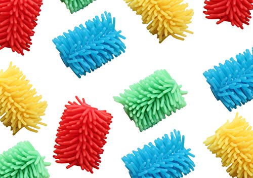 Curious Minds Busy Bags Bulk 12 Jumbo Squishy Soft Puffer Pencil Grip - Sensory School Supply or Prize