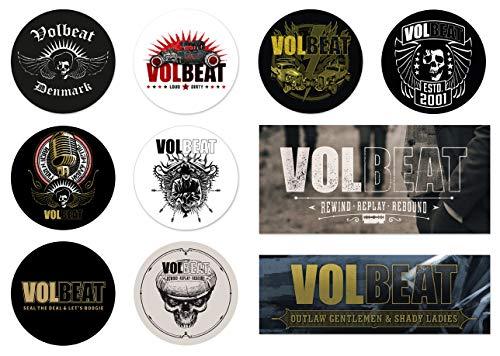 Volbeat 10er Set Denmark Rewind Rebound Sticker Aufkleber wasserfest