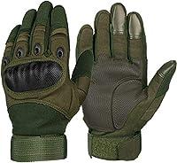 タッチスクリーン手袋 オートバイ手袋スーパーファイバー強化レザーモトクロスバイクバイクのレーシングカーライディングモトグローブ男性 スキーキャンプハイキングランニングバイク運転用 (Color : Army Green, Size : M)
