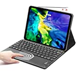 iPad Pro 11 Keyboard Case 2021/2020, SENGBIRCH Touchpad Detachable Keyboard [Support Apple Pencil Charging] - Smart Cover Compatible with iPad 2021 Pro 11/2020/2018 - Black
