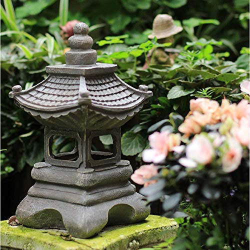 Outdoor Japanse Stijl Solar Zen Tuin Verlichting Lantern Pagoda Light Solartuinlamp Standbeeld Farmhousebalcony Creative Decoration Lamp