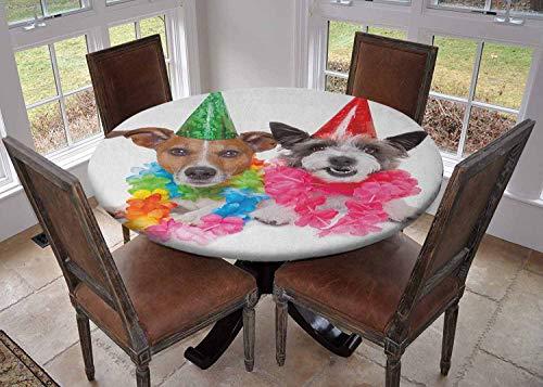 Ronde tafelkleed keuken decoratie, tafelblad met elastische randen, ruimte thema educatieve nummers spel astronaut bereiken naar de ruimteschip Multi kleuren, fiesta tafelkleed
