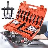 12 PCS Profesional Set de Separador de Rodamientos Cojinetes Extractor de Engranajes Separador de Rueda Volante con Kit de Herramienta de Molde de Golpe