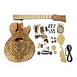 GDLP710MS Hazlo Tú Mismo Guitarra Eléctrica Kits, Estilo Macizo Caoba Cuerpo con Spalted Arce Chapa (Juego en Cuello)