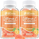 (2-Pack) Vitamin C Gummies for Adults - 140 Vegan Gummies Super Antioxidant Support - Our Chewable 250mg Vitamin C Gummy Helps Bolster Your Bodily Defenses & Aids in Collagen Production - (70/Bottle)