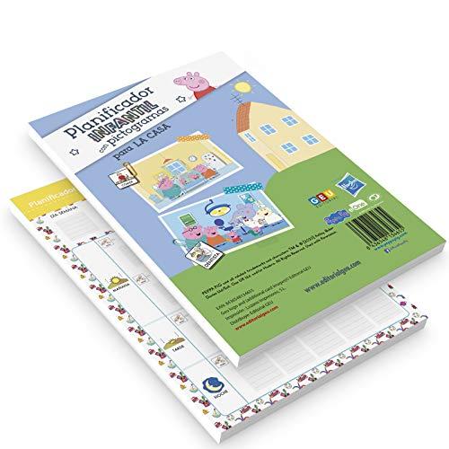 Planificador infantil de pictogramas Peppa Pig | ordenar y organizar las tareas para La Casa: Tareas del Colegio (Educación Infantil y Primaria)