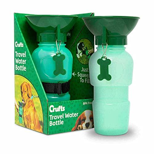 Dreamzfit - Botella de agua portátil de viaje para mascotas – Anti fugas tazón tazón taza taza cachorro gatos perros viajes al aire libre caminar