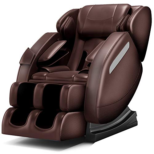 Zero Gravity Full Body Massage Chair Recliner Built-in Bluetooth Neck Shoulder Back Waist Foot...