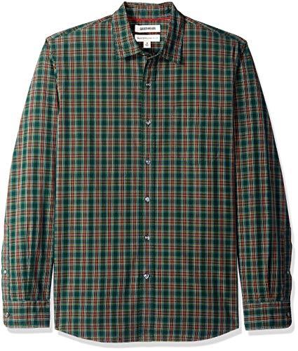 Goodthreads MGT250002, Camiseta para Hombre, Verde (green/burgundy plaid), S