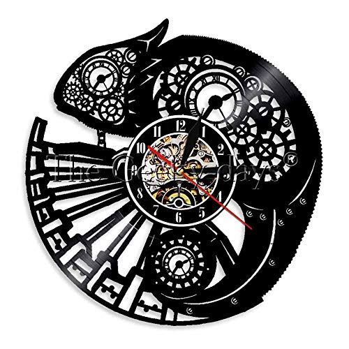wtnhz LED-vinyl record wall clock Vinyl Wall Clock Vinyl Record Wall Clock 12-Inch LED Wall Clock Gifts Handmade Home Wall Decor