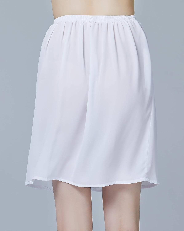 Mujer Enagua de Gasa Corta Antiest/ática Combinaci/ón para Vestido Antideslizante Plain Falda Blanco Marfil Negro Azul Marino