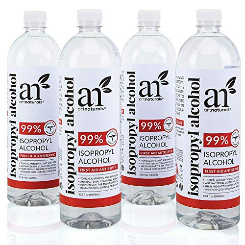 Artnaturals Rubbing Isopropyl Alcohol - 99% Pure - 1 Gallon - Made in USA - Industrial Grade IPA Concentrated