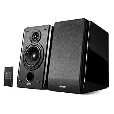 Edifier R1850DB Active Bookshelf Speakers with Bluetooth and Optical Input - 2.0 Studio Monitor Speaker - Built-in Amplifier with Subwoofer Line Out by Edifier