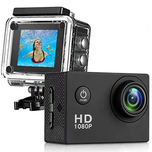 170° Wide Angle Lens Full HD 30m Waterproof 2 Inch LCD Screen Action Camera with All Necessary Accessories Kit