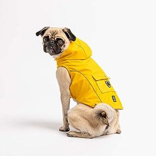جاكيت مطر أصفر للحيوانات الأليفة من سيلفر بو (وسط)