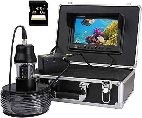 YUKM 100M Cable Fish Ferters Festificadores De 9 Pulgadas DVR Grabadora, 20Pcs LED Blanco + 18Pcs LED De Infrarrojos Lámparas IP68 Cámara De Video De Pesca Submarina