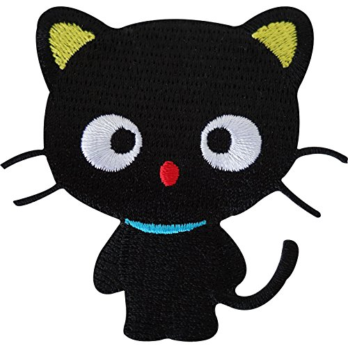 Lucky gato negro bordado hierro/sew on Patch Ropa Jeans T SHIRT bolsa insignia