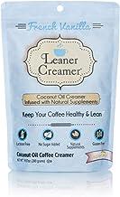 Leaner Creamer French Vanilla Sugar Free Coffee Creamer Powder 9.87oz. Perfect Coconut Oil Non-Dairy French Vanilla Powder...
