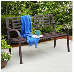 "IMPERIAL POWER Steel Bench, 50"", Brown"