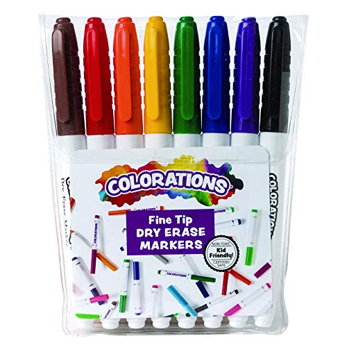 8-PC Set Colorations FPDRY Fine-Tip Dry Erase Marker $9.48 + Free shipping w/ Prime or $25+