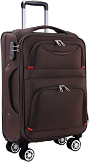 Osonm ビジネスバッグスーツケースソフトキャリーバッグ機内持込 大型預け入れスーツケース キャスター613SD