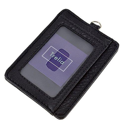 (トレリア) Trelia 定期入れ パスケース 薄型 PU レザー メンズ #001 (ブラック)