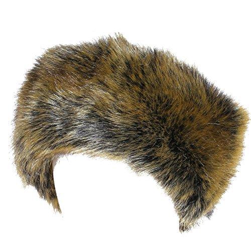 Soul Young Damen Winter Faux Fuchs Haarband Schleife Design Elastische Stirnband Kopfband