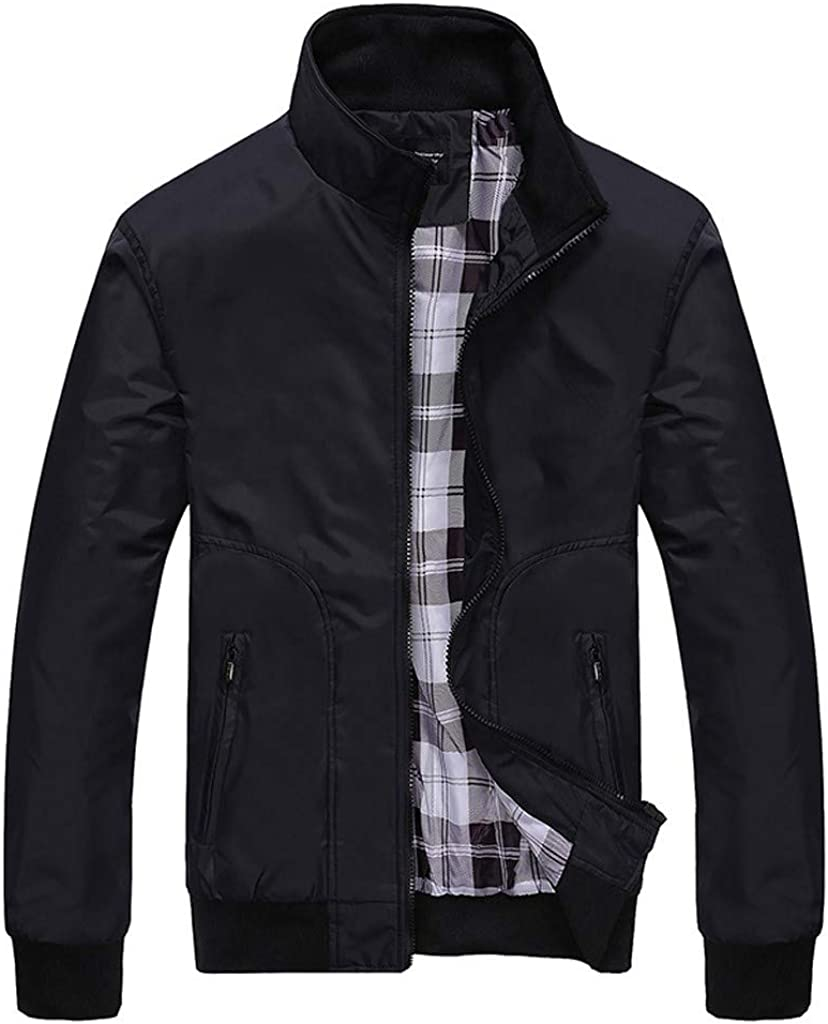 iQKA Men's Casual Long Sleeve Lightwei Bombing free shipping Zipper Color Jacket Clearance SALE! Limited time! Solid