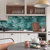 Homyl Mosaik Fliesenaufkleber Fliesenbild Fliesen Aufkleber Sticker Badezimmer Bad Folie, 20x500cm - 003 - 8