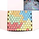 Gesso colorato per bambini Bambini, WYZTLNMA GIACCHE DI STRADA Giganti -Fun Art Game, Gessi parco giochi/pavimentazione, Gesso grande a campana (100pcs)