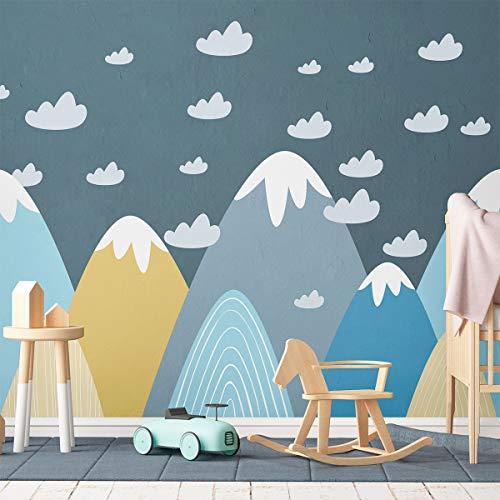 Wandtattoo, selbstklebend, für Kinder, Riesen-Dekoration, skandinavische Berge für Kinderzimmer, Blanka, 55 x 95 cm