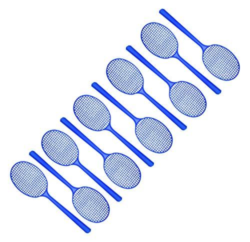 FACKELMANN Mini-Fliegenklatsche Tecno, Insektenschutz mit Aufhängöse (Farbe: Gelb, Grün, Rot, Blau - Nicht frei wählbar), Menge: 1 x 10er Set