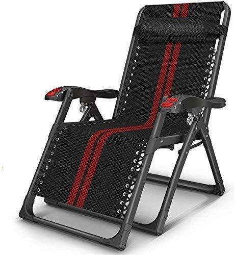 LZMXMYS Silla de salón al Aire Libre, sillas reclinables Plegable al Aire Libre Silla de salón de jardín al Aire Libre Más de Inicio