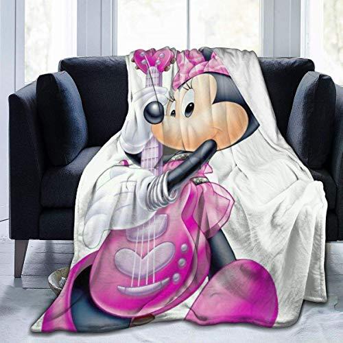 Manta de Mickey Mouse Minnie de gran tamaño, cálida para adultos, supersuave, con franela suave antibolitas para adultos y niños, impresión 3D de 80 x 60 pulgadas
