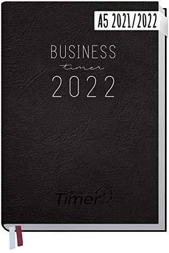 Chäff Business-Timer 2021/2022 A5 [Schwarz] Terminplaner, Wochenkalender 18 Monate: Jul 2021 - Dez 2022 | Terminkalender, Wochenplaner, Organizer | klimaneutral und nachhaltig
