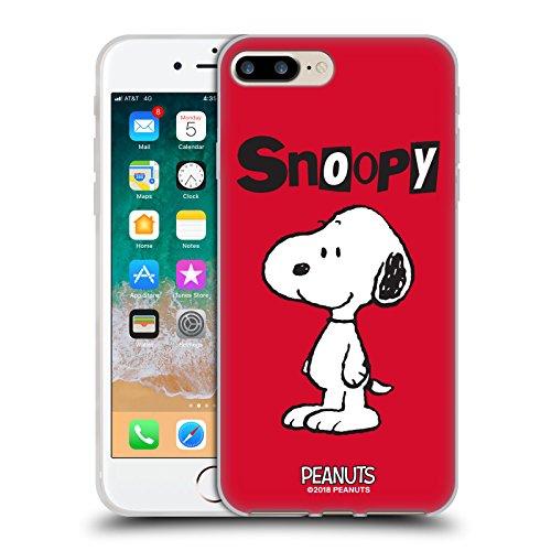 Head Case Designs Ufficiale Peanuts Snoopy Personaggi Cover in Morbido Gel Compatibile con Apple iPhone 7 Plus/iPhone 8 Plus