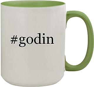 #godin - 15oz Hashtag Ceramic Inner & Handle Colored Coffee Mug, Light Green