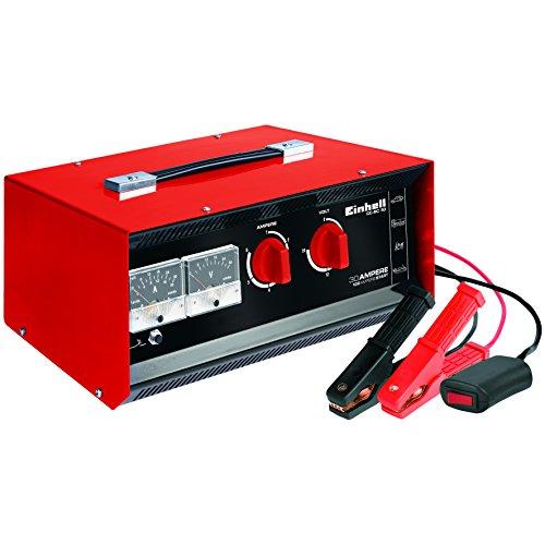 Einhell Batterie-Ladegerät CC-BC 30 (Ladestrom 6-fach, umschaltbare Ladespannung 6V/12V/24V, Starthilfeeinrichtung m. Fernstartkabel, Schutzklasse I)