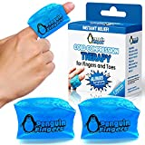 Finger and Toe Cold Gel Ice Pack, by Penguin Fingers.Compression Cold Pack for Fingers and Toes, Arthritis, Gout, Injuries. Cryotherapy Sleeve. Best Prices (Single, Double, and Four Packs) (2)