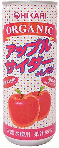 光食品 ヒカリ オーガニック アップルサイダー+レモン 250ml [0458]