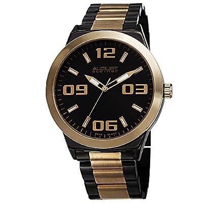 De agosto de Steiner de hombre mercurio analógica reloj de cuarzo con correa de acero inoxidable
