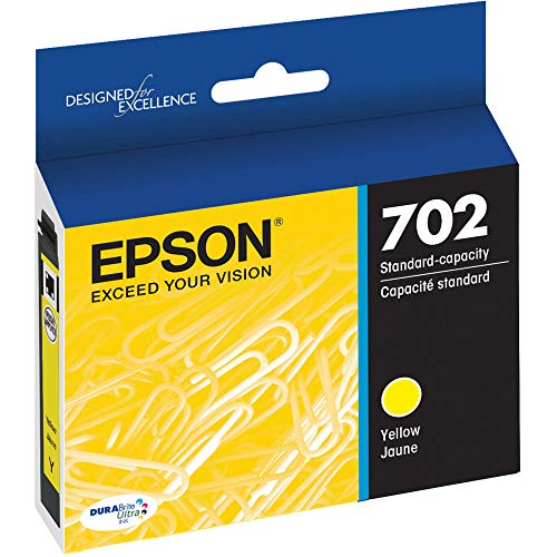 Epson T702420 DURABrite Ultra Yellow Standard Capacity Cartridge Ink, Model:T702420-S