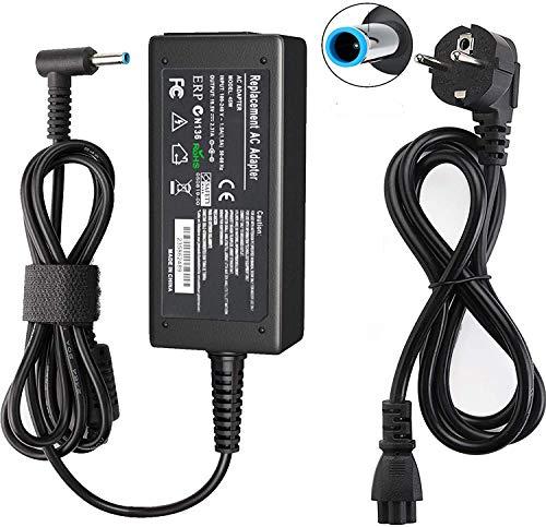 HP - Cargador para portátil (45 W, 19,5 V, 2,31 A, con cable de alimentación para HP Elitebook Folio, Spectre Ultrabook, Pavilion Touchsmart y más (4,5 x 3 mm)