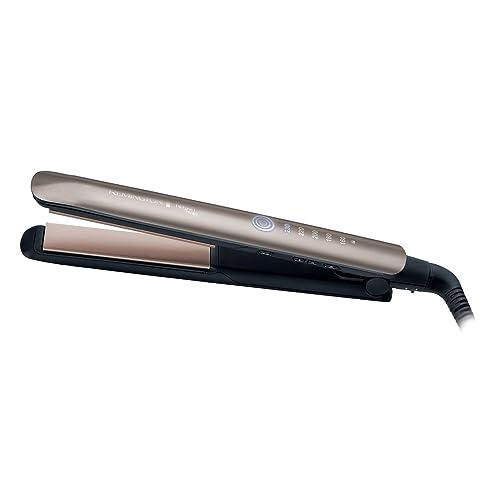 Remington S8590 Haarglätter Keratin Therapy, innovativer Hitzeschutzsensor, braun
