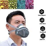 WFGZQ Mezza Maschera, Respiratore Antigas Maschera di Carbonio Organica Cartuccia di Protezione Biologica Cartuccia di Protezione Attrezzatura Protettiva, con Funzione Antigas Tossica